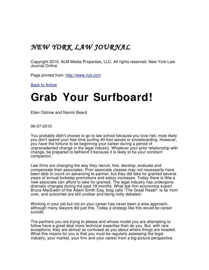 NEW YORK LAW JOURNAL Copyright 2010. ALM Media Properties, LLC. All rights reserved. New York Law Journal Online  Page pri...