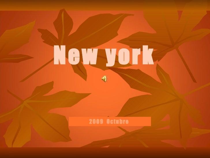 New york  2009  Octubre