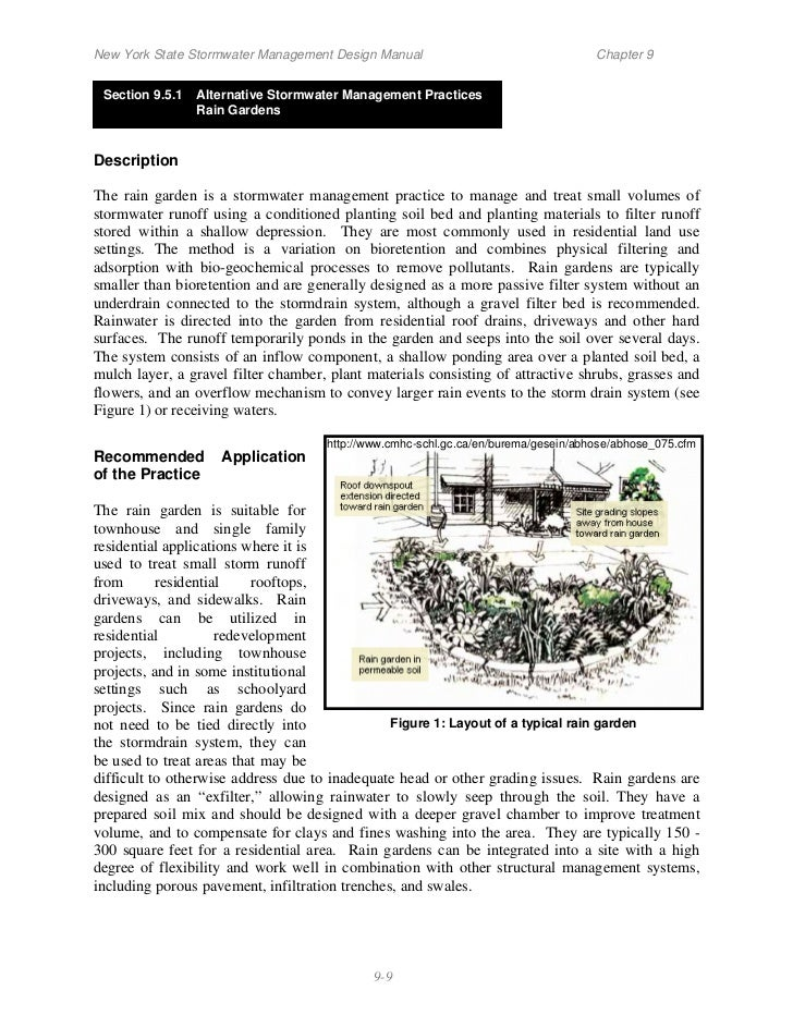 New York State Stormwater Management Design Manual                                  Chapter 9 Section 9.5.1   Alternative ...