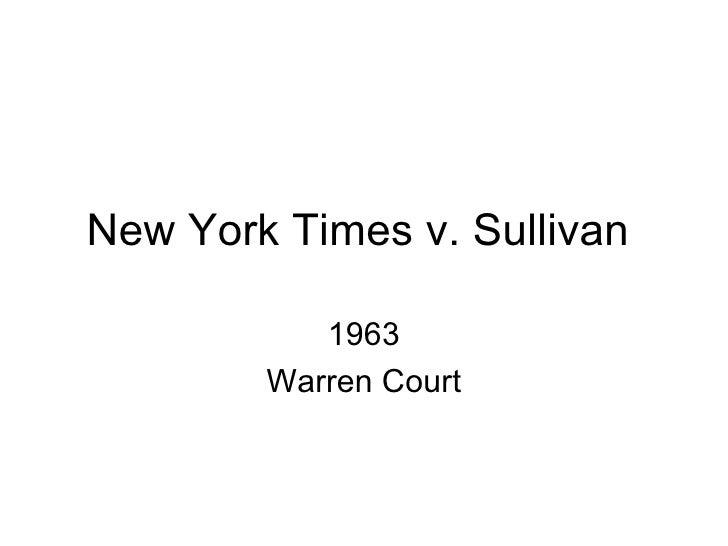 new york times co v sullivan 1964 376 u s 254 case briefs