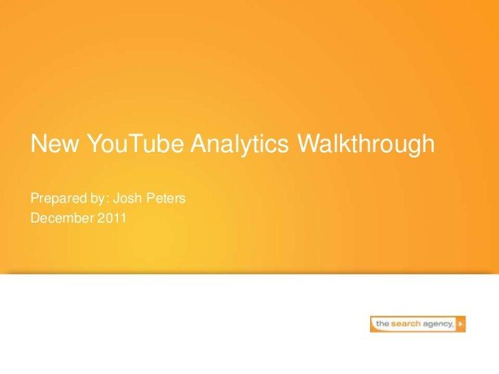 New YouTube Analytics Walkthrough