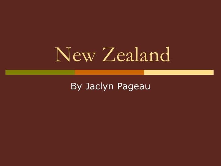 New Zealand By Jaclyn Pageau
