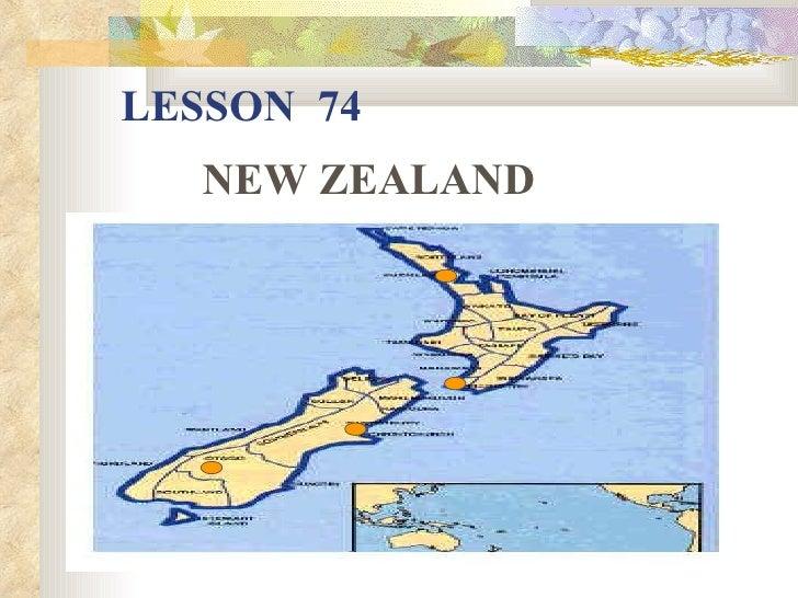 LESSON 74   NEW ZEALAND