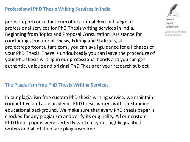 Get Help From The Best Thesis Paper Writing Service