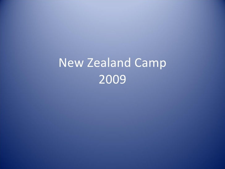 New Zealand Camp 2009