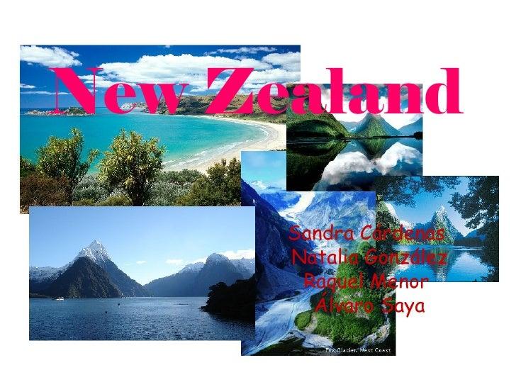 New Zealand      Sandra Cárdenas      Natalia González       Raquel Menor        Álvaro Saya