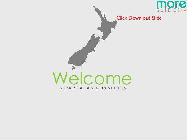 New Zealand Map   Moreslides.com