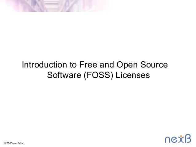 nexB - FOSS Introduction