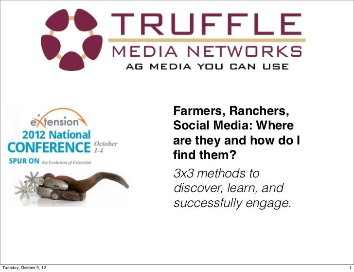 John Blue - Farmers, Ranchers, Social Media: Where are they and how do I find them?