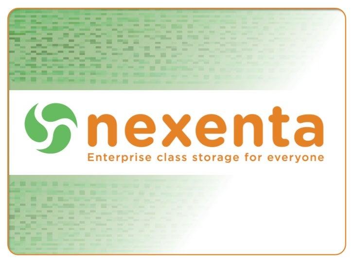 OSS Presentation NexentaStor™