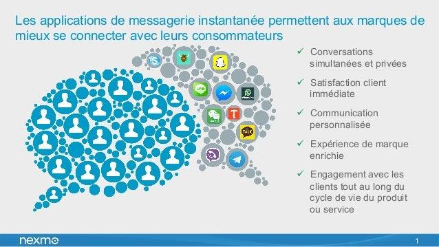 Les applications de messagerie instantanée permettent aux marques de mieux se connecter avec leurs consommateurs ü Conve...