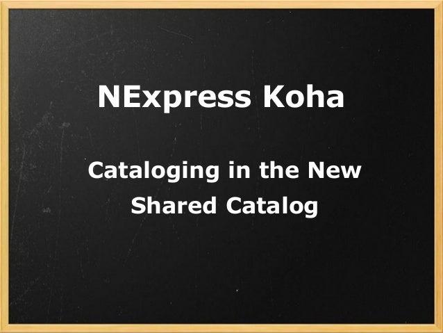 NExpress Cataloging training