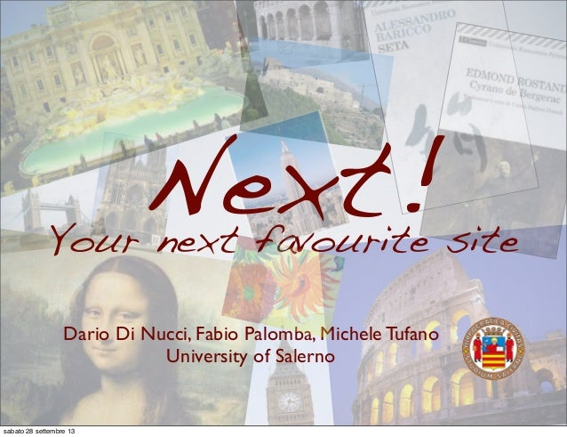 Next! - An Android application to support tourists activities