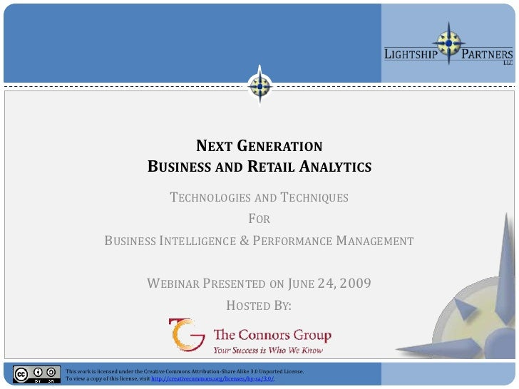 NEXT GENERATION                                 BUSINESS AND RETAIL ANALYTICS                           TECHNOLOGIES AND T...