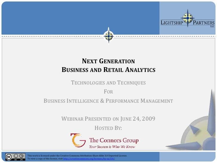 Next Generation Business And Retail Analytics Webinar