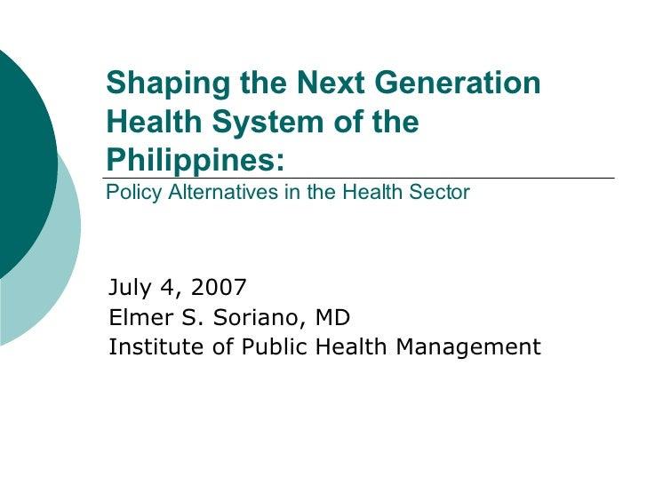 Next Generation Health System Philippines