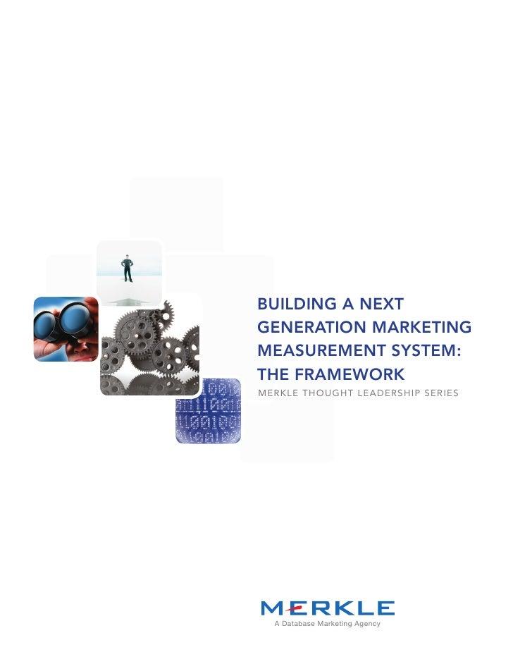 Next Generation Marketing Measurement
