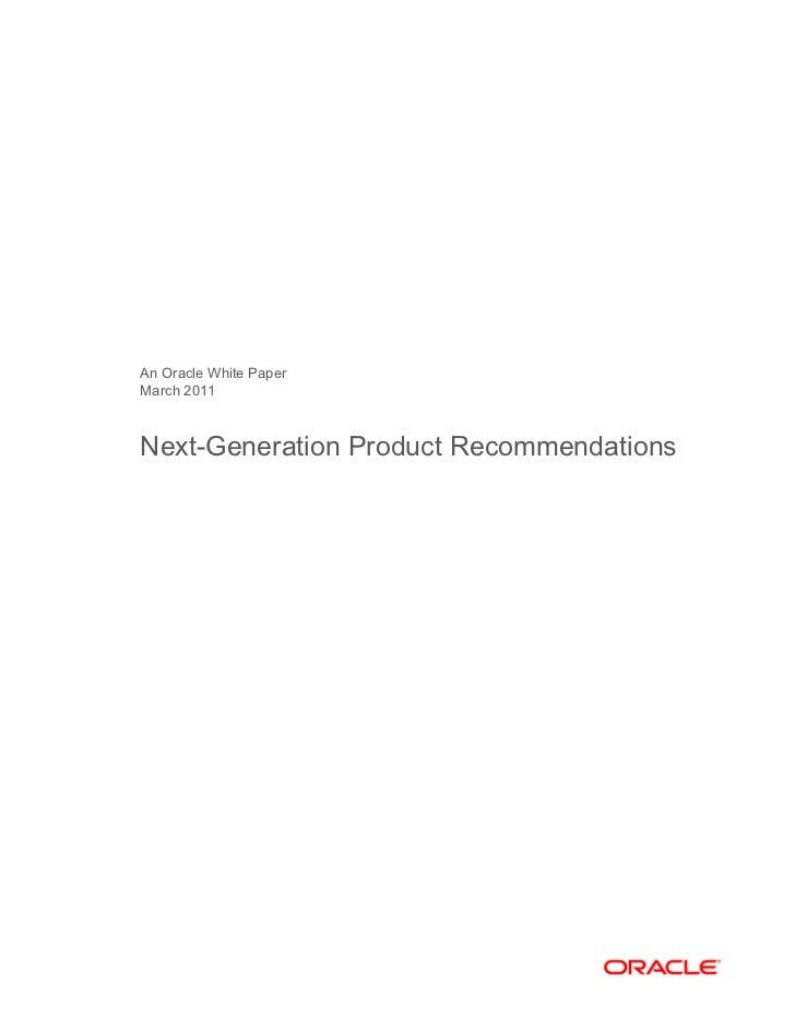 Next generation-product-recommendation