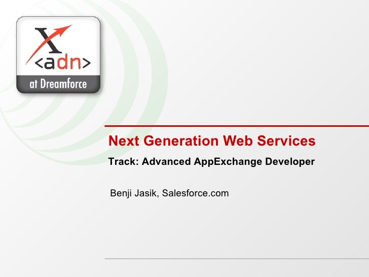 Next Generation Web Services