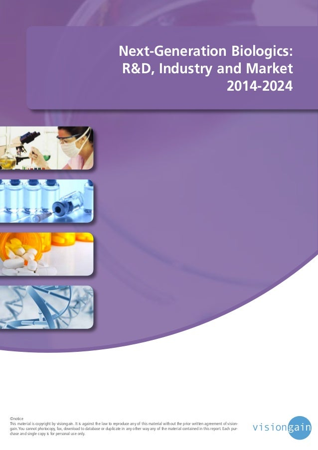 Next Generation Biologics: R&D, Industry and Market 2014-2024