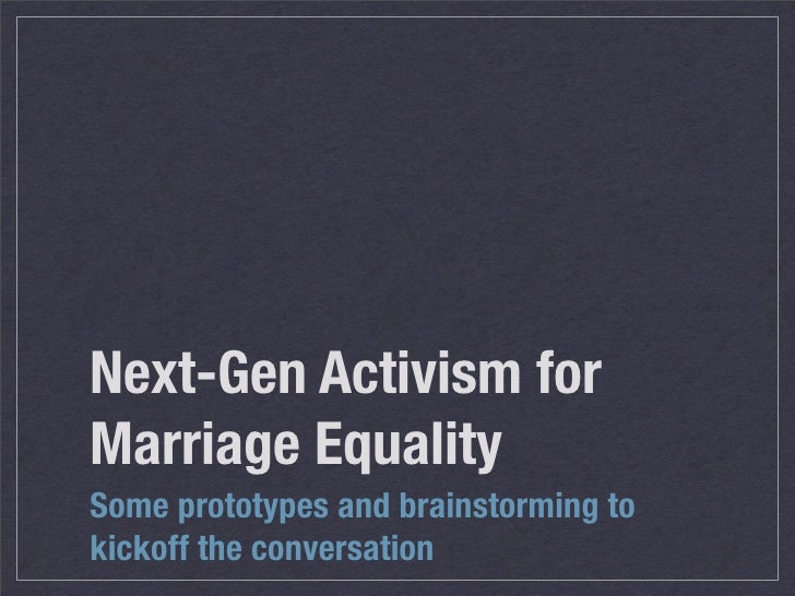 Next Gen Marriage Activism
