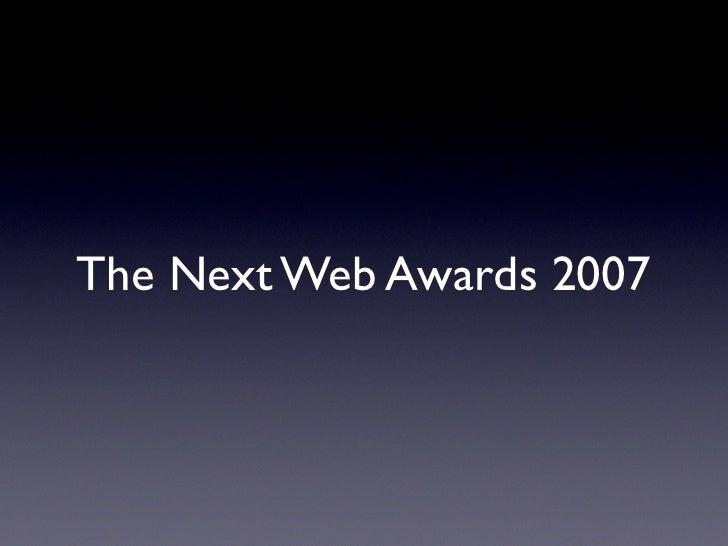 The Next Web Awards 2007