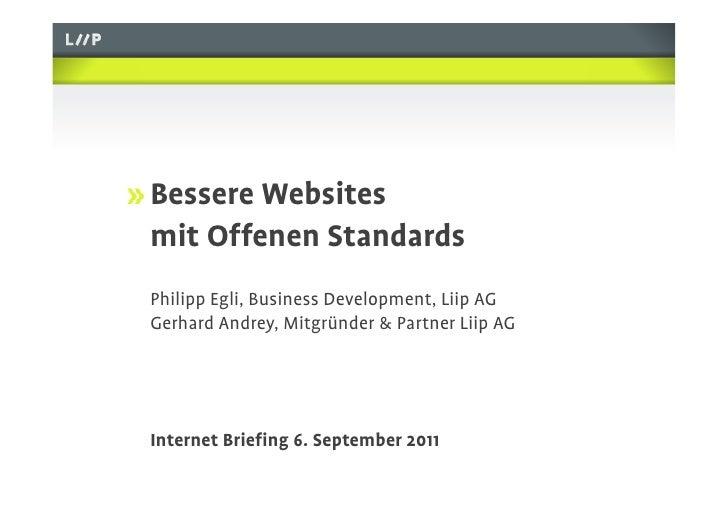 Next Web & Open Standards: LIIP Vortrag Internet-Briefing