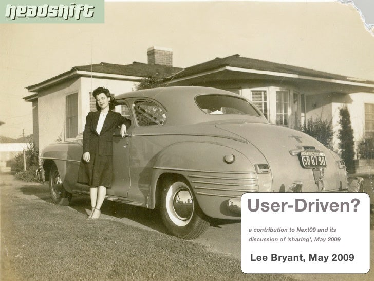 User-Driven Companies - start from the inside
