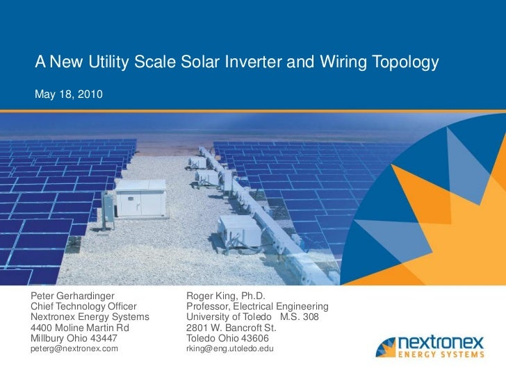 Solar inverter power point presentation