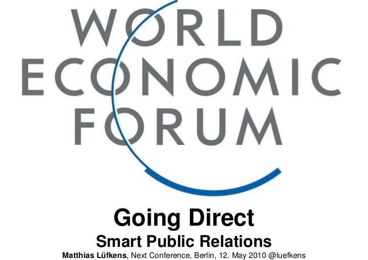 Going Direct<br />Smart Public Relations<br />Matthias Lüfkens, Next Conference, Berlin, 12. May 2010 @luefkens<br />