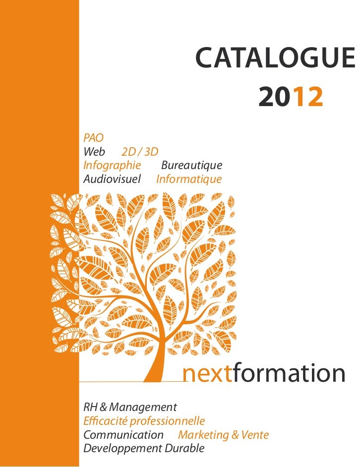 catalogue                       2012PAOWeb 2D / 3DInfographie  BureautiqueAudiovisuel Informatique                nextform...