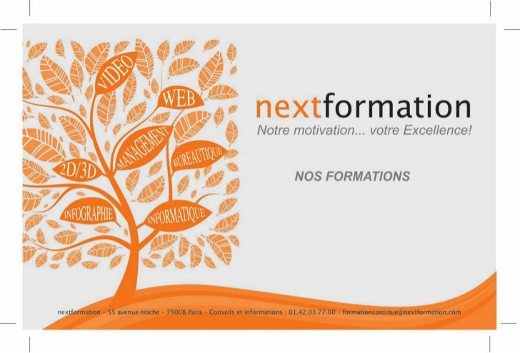 Catalogue formations continue DIF et CIF 2013 - Nextformation
