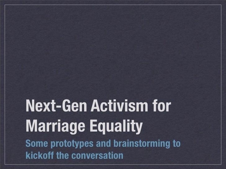 Next Gen Marriage Activism