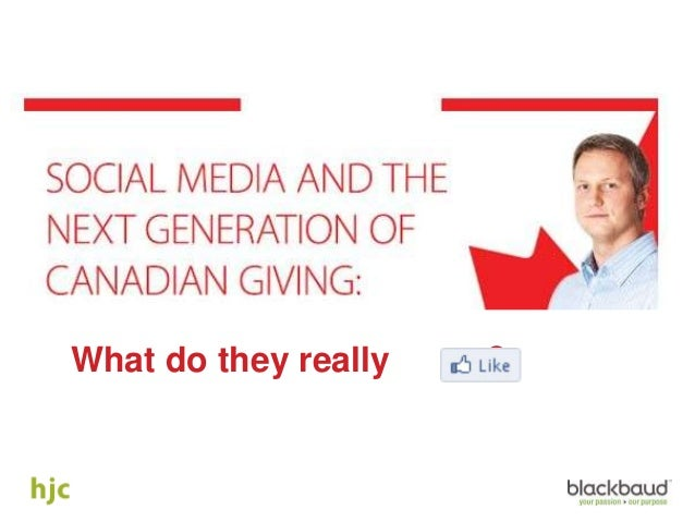 Social Media and the Next Generation of Canadian Giving