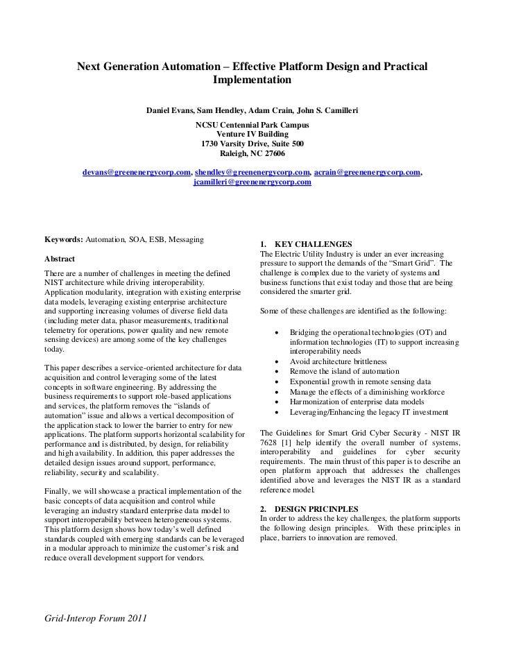 Next Generation Automation – Effective Platform Design and Practical                                    Implementation    ...