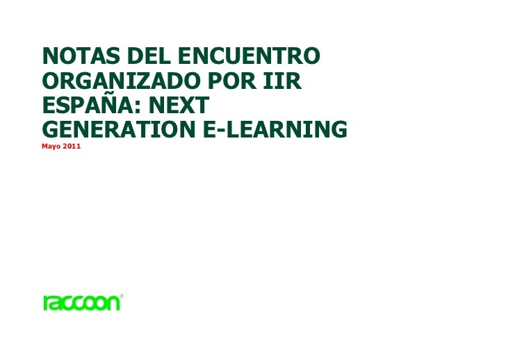 Next Generation E Learning Resumen.1.1