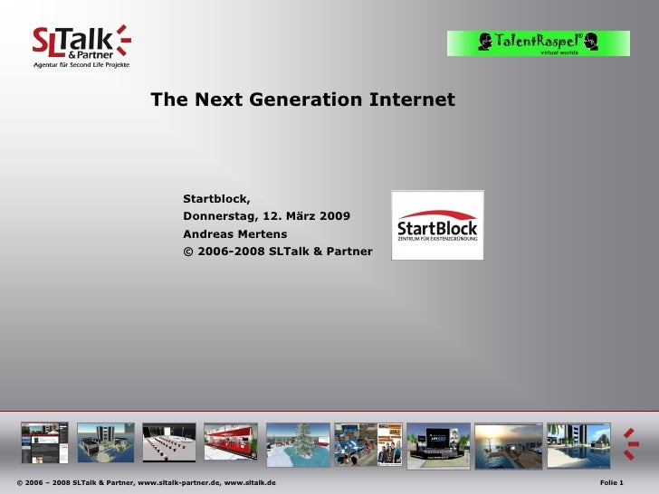 The Next Generation Internet                                                Startblock,                                   ...