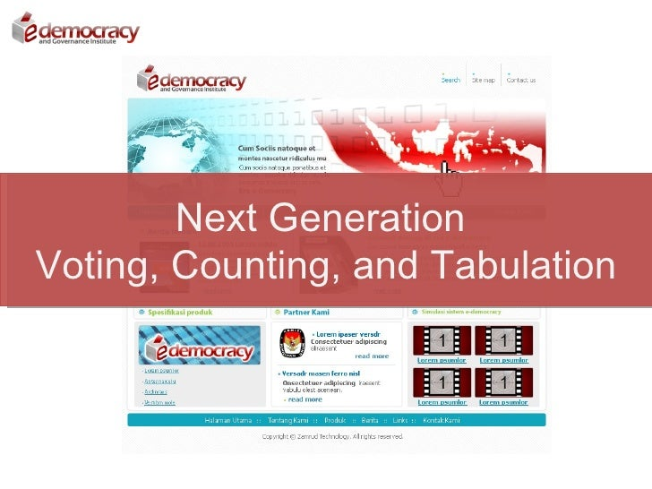 Next Generation Voting, Counting, and Tabulation