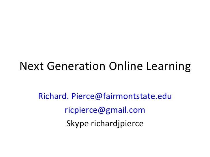 Next Gen Online Learning Wvhetc09