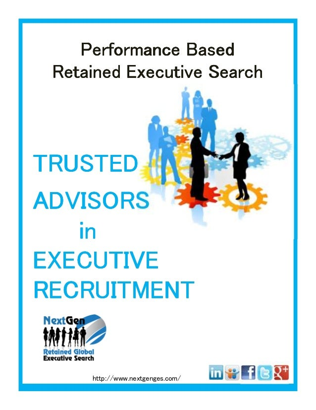 Trusted Advisors in Retained Executive Search