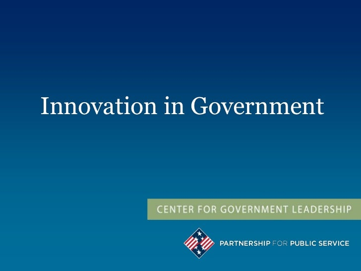 Innovation in Government