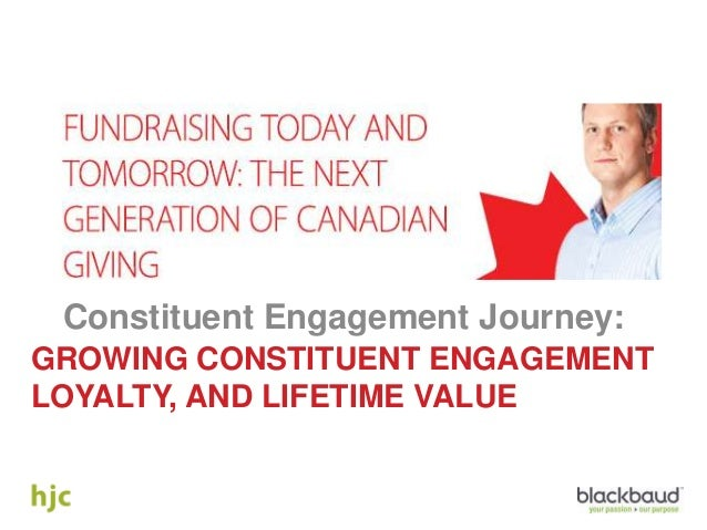 Fundraising Today and Tomorrow: The Next Generation of Giving - The Constituent Engagement Journey: Growing Engagement, Loyalty, and Lifetime Value