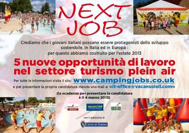 Next                              Job     Crediamo che i giovani italiani possano essere protagonisti dello sviluppo      ...