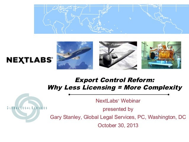 Export Control Reform:  Why Less Licensing = More Complexity