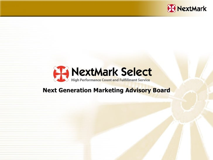Next Generation Marketing Advisory Board