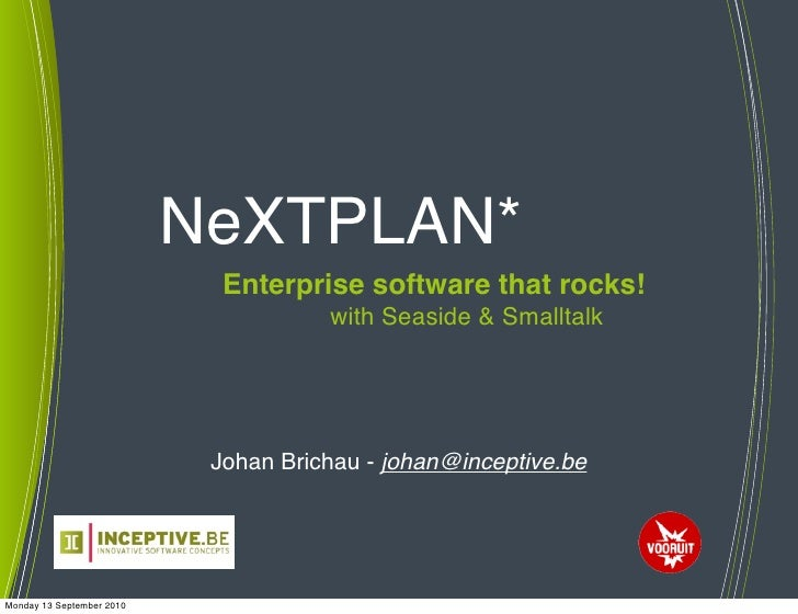 NeXTPLAN: Enterprise software that rocks!