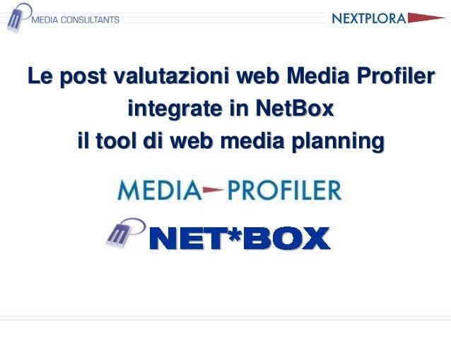 Postevaluation web Nextplora integrate in NetBox