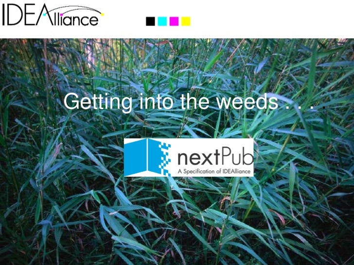 nextPub, A Specification of IDEAlliance