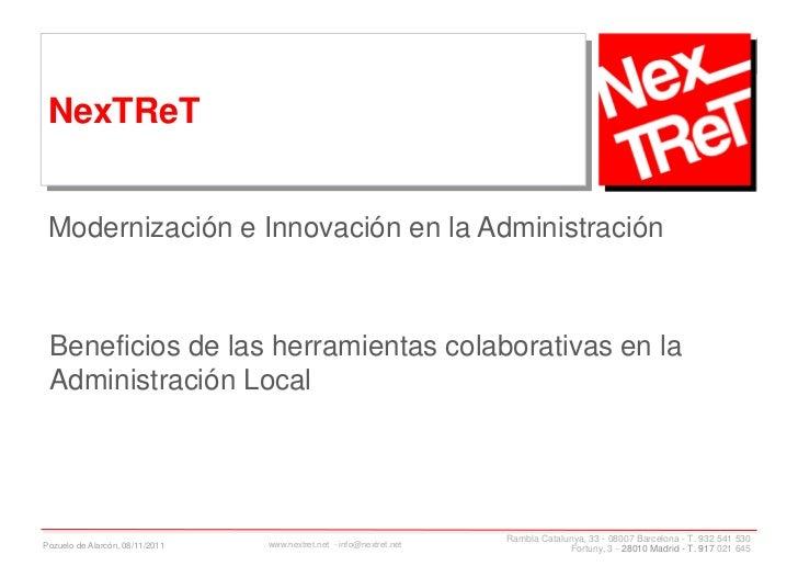 Modernización e innovación en la administración