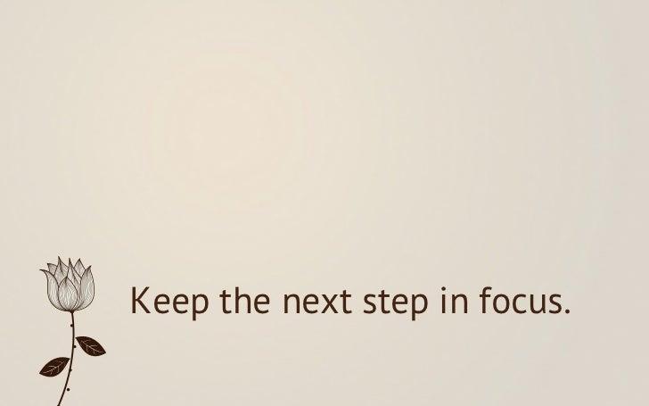 Next steps - eleven